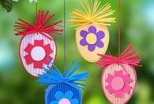 děti - velikonoční / výtvarné práce tvořené z papíru a jiných materiálů