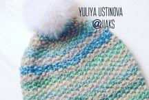 Вязание - шапки / Вязание шапок спицами и крючком.