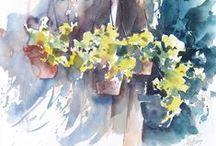 Hillmayr Watercolor / Watercolor Art by Gerhard Hillmayr