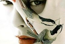 BODY ART / Beautiful body art...reminisient of days gone by. From body paint to tattoos....fabulous!