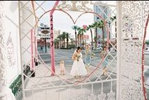 Kate and Lindsay's Vegas wedding / Featuring Elvis, confetti and breeze blocks.