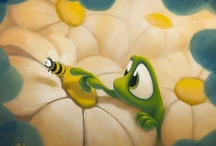 Friends Along The Way / Paintings from my category - Friends Along The Way - featuring Beauregard the frog, Ollie the duck and other favorite characters.