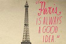 Paris / Paris, la ville des amoureux, la ville des lumières.  La plus belle ville au monde !