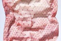 Origami / #pliages #paper #fabric #textile #papier #origami #tessellations #foldingpaper #art #paperart #diy #doityourself