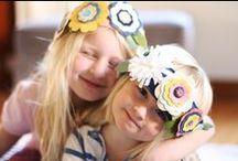 fabric flowers, headbands, clips