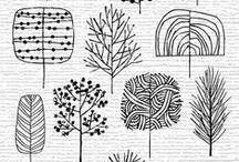 Stamps/ porcelain painting / Stempelen, diy stamps, ideeen met porcelein-stift