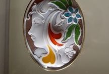 Painted cameos / Gallery of painted modern style cameos