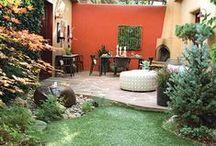 Idéias para jardim / No caminho há verde, flor, cheiro, cor...