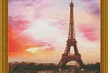 França , Paris e torre Eiffel.