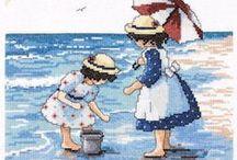 Crianças na praia.