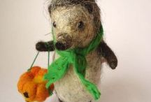 Felted friends / Needle felted  / by Molly Carrizales-Rios