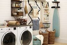 """Nooks and Crannies / Making the most of home """"utility"""" spaces: Laundry, Closets, and Entry. / by Melissa Soto"""