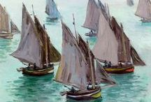 Art With Boats / Sails, masts and marinas are a joy for me to look at.