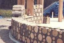 """Cordwood House / Interior and exterior plans, decor, and specifics for our """"round"""" cordwood house. / by Melissa Soto"""