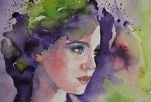 Watercolor - Human figure and Portraits