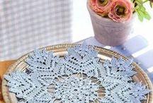 салфетки крючком со схемами простые и красивые