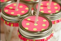 DIY. Mason Jars / Everything you can think of when it comes to being creative with these jars.
