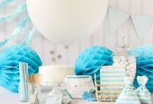 Baby Shower Blue Theme / Baby BlueTheme ideas! Blue Party cake ideas, Blue dessert table, Blue Party decorations and supplies, Invitations and Favors for a memorable Blue baby shower party, games, FREE party printables @ www.babyshowerideas4U.com