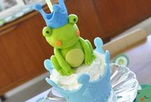 Baby Shower Frog Prince Theme / Prince Frog Baby Shower Theme ideas! Frog Party cake ideas, Frog dessert table, Frog Party decorations and supplies, Invitations and Favors for a memorable Frog baby shower party, games, FREE party printables @ www.babyshowerideas4U.com