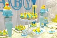 Baby Shower Duck Theme / Duck Theme Baby Shower ideas! Duck Party cake ideas, Duck dessert table, Duck Party decorations and supplies, Invitations and Favors for a memorable Duck baby shower party, games, FREE party printables @ www.babyshowerideas4U.com