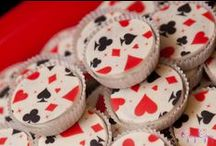 Baby Shower Playing Cards Theme / Full House / Playing Cards Theme Baby Shower ideas! Full House Playing Cards Party cake ideas, Playing Cards dessert table, Full House / Playing Cards Party decorations and supplies, Invitations and Favors for a memorable Full House baby shower party, games, FREE party printables @ www.babyshowerideas4U.com
