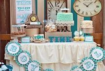 Baby Shower Clock Theme Inspirations / Around the Clock Theme ideas! Around the Clock Party cake ideas, Clock dessert table, Clock Party decorations and supplies, Invitations and Favors for a memorable Around the Clock baby shower party, games, Diaper Cakes, FREE party printables @ www.babyshowerideas4U.com