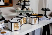Baby Shower Trendy & Modern Theme Inspirations / Throw a memorable baby shower with great inspirations, adorable baby shower decorations, themes, diaper cakes, invitations, favors, games, FREE printables  @ www.babyshowerideas4U.com