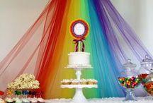 Rainbow Party Ideas / ❤ ❤ ❤   For Birthday Party Ideas : www.birthdaypartyideas4u.com  ❤ ❤ ❤   For  FREE Printable Games, Decorations : www.magicalprintable.com/freebies  ❤ ❤ ❤