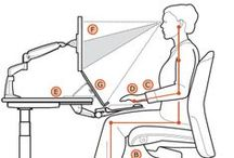 Office / Office setup ideas, ergonomics and hacks to stay healthy, productive and organized.