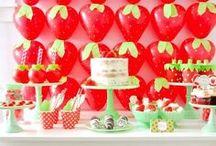 Strawberry Short Cake Party Ideas / Strawberry Short Cake Party Ideas ❤ ❤ ❤   For Birthday Party Ideas : www.birthdaypartyideas4u.com  ❤ ❤ ❤   For  FREE Printable Games, Decorations : www.magicalprintable.com/freebies  ❤ ❤ ❤