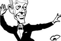 Astaire Caricatures / Celebrities have long been illustrated showing their features in simplified or exaggerated ways. Over the years, iconic Fred Astaire was the subject of many caricature artists.
