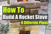 Food Stove Rocket / a rocket stove is part of the a rocket mass heater, but you can cook and canning with no electric