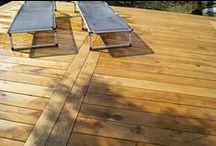 Eg Rustik terrasse / Smuk nylagt terrasse i Europæisk Eg Rustik terrassebrædder. Foto: Keflico A/S.