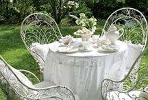 Mondscheingarten / Weißer Romantik-Garten im Bagua 7