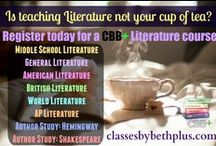 CBB+ Literature / Resource ideas for English (literature or author study) courses for middle or high school students.