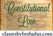 CBB+ US Government / Resource ideas for Constitutional Law (or US Government) course for home educators.  Also includes resources for teaching election process (Presidential to local).  Primarily middle or high school level