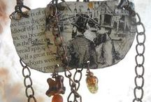RosinTrails@Etsy / Salvaged objects-mixed media jewelry