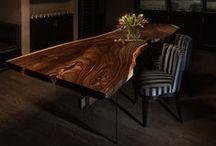 wood slabs table / handmade live edge tables