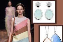 Ti Sento / Zilveren sieraden met kleurstenen of zirkonia's. Helemaal hip.
