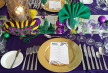 Mardi Gras: Celebrating the Best in New Orleans Cuisine / Guests were treated to an evening in the Dataw Island Club Dining Room. The NOLA dinner celebrated all things New Orleans, including great blues music. — at Dataw Island Club. Beaufort, SC.
