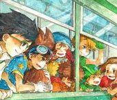 """Digimon • / """"Las aventuras que tuvieron los ocho niños durante las vacaciones de verano terminaron, sin embargo, eso no quiere decir que la puerta permanece cerrada ya que éstas no son ni las primeras ni las últimas aventuras de los niños elegidos. Es probable que la puerta del digimundo  se vuelva a abrir siempre y cuando los digimons sean recordados."""" — Digimon Adventure."""