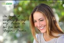 Smile MORE! / Inspirational quotes that will make you smile! Here's to smiling more!