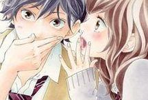 Ao Haru Ride • / ~Sin querer, me encontré con tus ojos. Me miraste fijamente desconcertándome y enamorándome.~