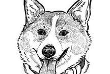 WonderWoof - Dog Illustrations / Original dog illustrations from WonderWoof.