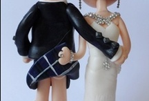 Scottish Bride & Groom Wedding Cake Toppers / Personalised custom handmade Scottish wedding cake toppers, made in any outfits/poses you want.