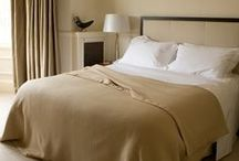 Bed Blankets / Blankets have always been associated with warmth and comfort. Our bed blankets also add elegance, colour and finish to any bedroom. We use only superb quality yarns. Wool, merino, cashmere and mixes. Pile them on for cold nights or use one with a blanket for summer cool.