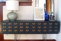 Repurposed Card Catalogs / by Belmont Public Library