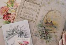 Vintage kortteja ym