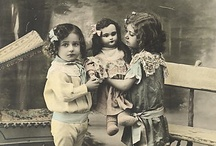 Little Girls with Dolls
