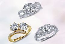 Better TWOgether / Two Stone Rings in Platinum-Bonded Sterling Silver with Simulated Diamonds from $100 MSRP / by Lafonn